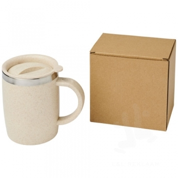 Wey 400 ml wheat straw insulated mug