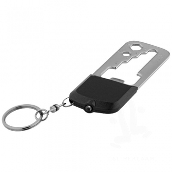Octa 8-function keychain tool and LED light
