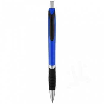 Turbo ballpoint pen with rubber grip