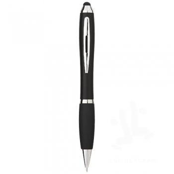 Nash coloured stylus ballpoint pen with black grip