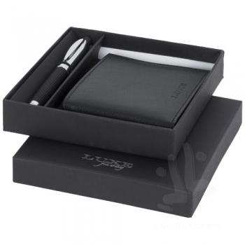 Baritone ballpoint pen and wallet gift set