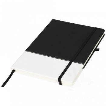 Two-tone A5 colour block notebook