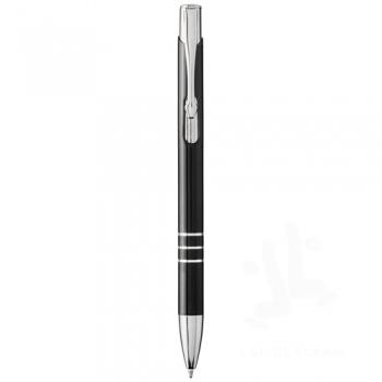 Moneta laser colour aluminium click ballpoint pen