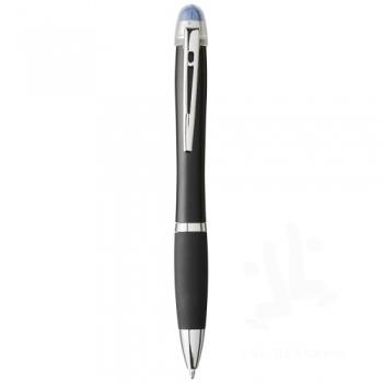 Nash light-up black barrel and grip ballpoint pen