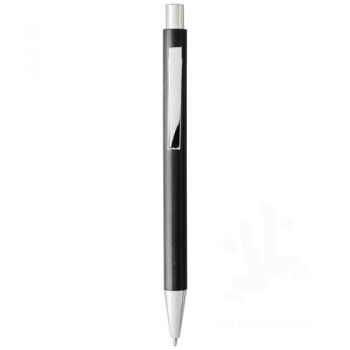 Tual wheat straw click action ballpoint pen