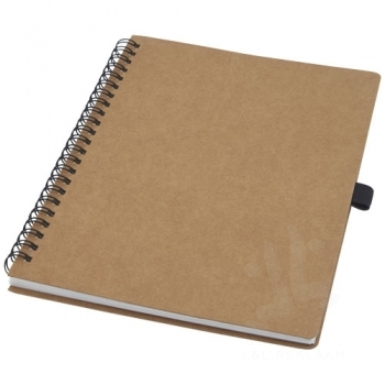 Cobble A5 wire-o recycled cardboard notebook with stone paper