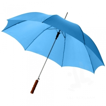 "Lisa 23"" auto open umbrella with wooden handle"