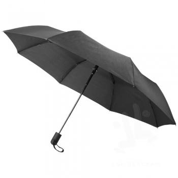 "Gisele 21"" heathered auto open umbrella"