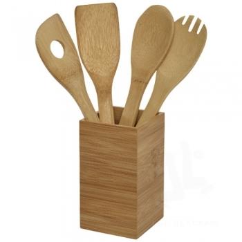 Baylow 4-piece kitchen utensil set with holder