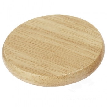 Scoll wooden coaster with bottle opener