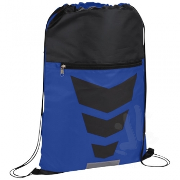 Courtside zippered pocket drawstring backpack