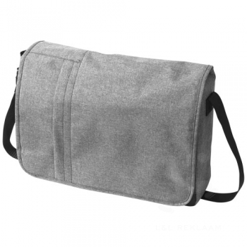 "Fromm heathered 15.6"" laptop messenger bag"