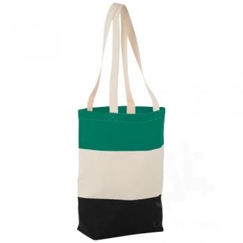 Colour-block 227 g/m² cotton tote bag