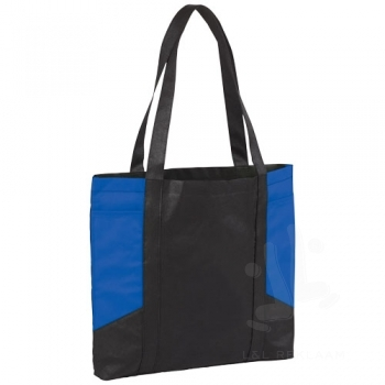 Joey coloured panel non-woven tote bag