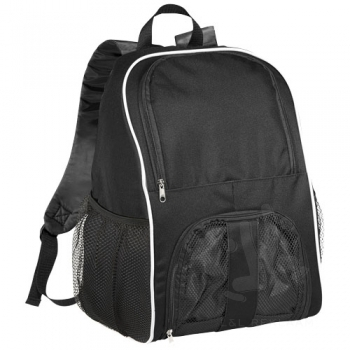 Goal backpack with mesh footbal compartment