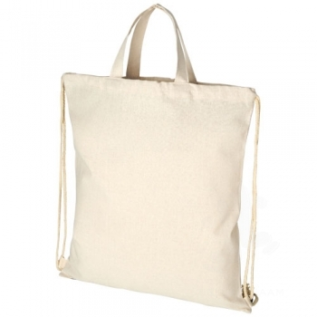 Pheebs 210 g/m² recycled cotton drawstring backpack