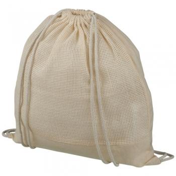 Maine mesh cotton drawstring backpack