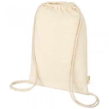 Orissa 100 g/m² GOTS organic cotton drawstring backpack