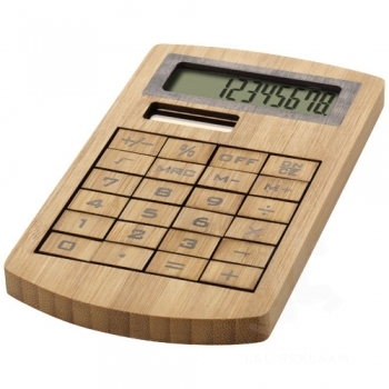 Eugene calculator made of bamboo