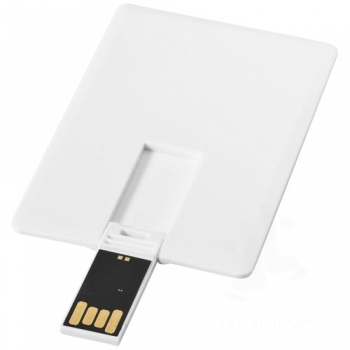 Slim card-shaped 2GB USB flash drive