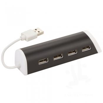 Power 4-port USB hub and smartphone stand
