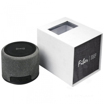 Fiber wireless charging Bluetooth® speaker