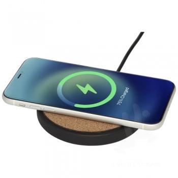 Kivi 10W limestone/cork wireless charging pad