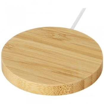 Atra 10W bamboo magnetic wireless charging pad