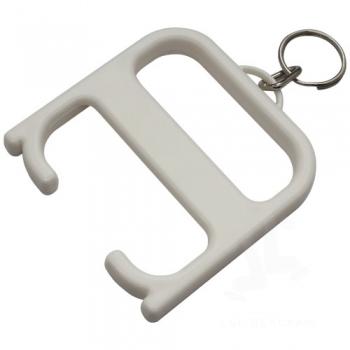 Hygiene handle with keychain