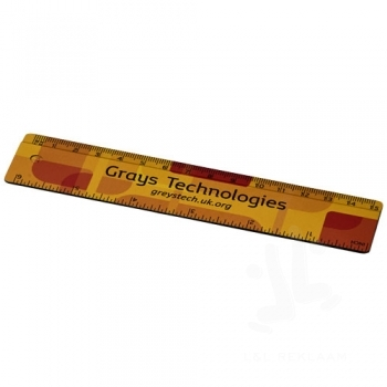 Terran 15 cm ruler from 100% recycled plastic