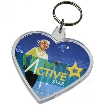 Combo heart-shaped keychain