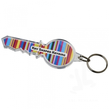 Combo key-shaped keychain