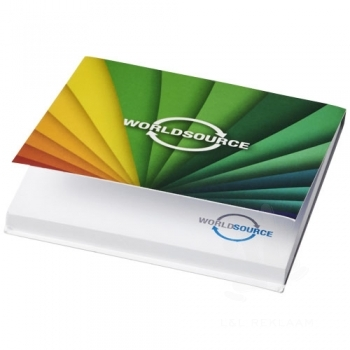 Sticky-Mate® soft cover squared sticky notes 75x75