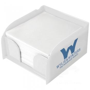 Vessel memo block insert and memo paper