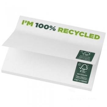 Sticky-Mate® recycled sticky notes 100 x 75 mm