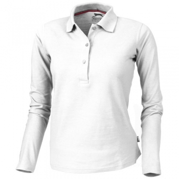 Point long sleeve women's polo
