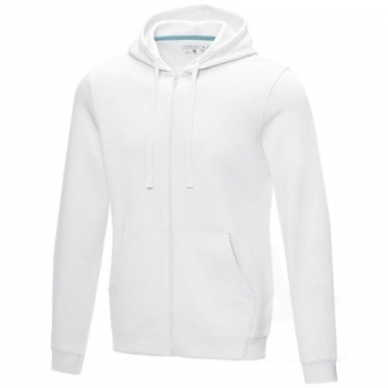 Ruby men's GOTS organic GRS recycled full zip hoodie
