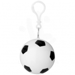 Xina rain poncho in storage football with keychain
