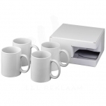 Ceramic sublimation mug 4-pieces gift set