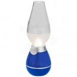 Hurricane lantern light with blow sensor