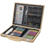 Rainbow 67-piece colouring set