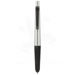 Gummy stylus ballpoint pen with soft-touch grip
