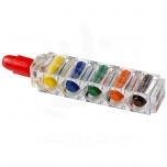 Waxy 6-piece crayon set with clear casing