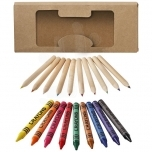 Lucky 19-piece coloured pencil and crayon set