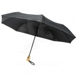 "Bo 21"" fold. auto open/close recycled PET umbrella"