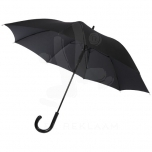 """Fontana 23"""" auto open umbrella with carbon look and crooked handle"""