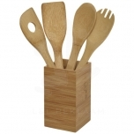 Baylow 4-piece kitchen utensil set with holder