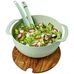 Lucha wheat straw salad bowl with servers