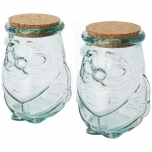 Airoel 2-piece recycled glass container set