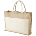 Mumbay cotton pocket jute tote bag